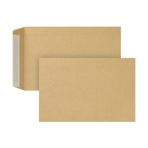 Bags 160x240mm peel and seal 90g brown - box of 250