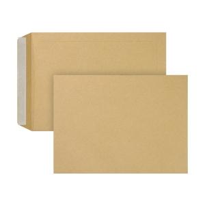 Bags 175x265mm peel and seal 90g brown - box of 250