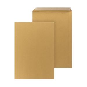 Bags 250x350mm peel and seal 90g brown - box of 250