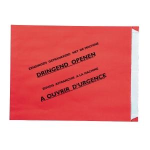 Speciale enveloppen gefrankeerde zending 240x300x35mm rood België - doos van 500