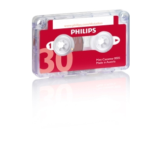 Philips LFH 0005 audiocassette voor dictafoon mini