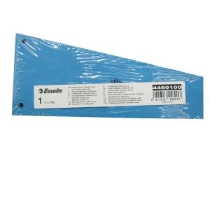 Esselte scheidingsstrook trapezium karton 220gr blauw - pak van 100