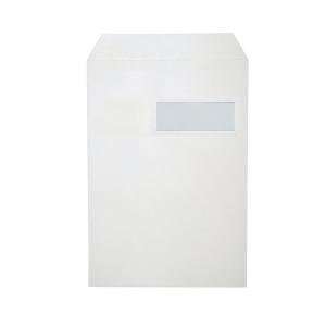 Zakomslagen 229x324mm siliconenstrook venster rechts 120g wit - doos van 250