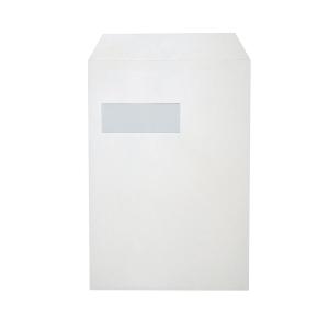 Zakomslagen 229x324mm siliconenstrook venster links 120g wit - doos van 250