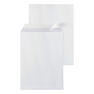 Bags 262x371mm peel and seal 120g extra white - box of 250