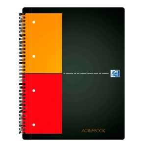 Oxford International Activebook spiraalschrift A4+ 5x5mm geruit 80 vellen