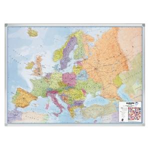 Legamaster wandkaart Europa politiek/autowegen 141x102cm