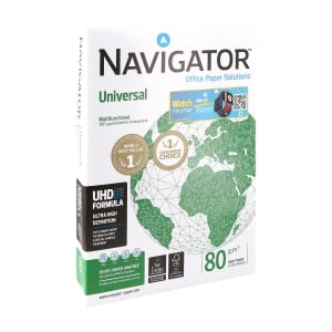 Navigator Universal premium paper A4 80g - 1 box = 5 reams of 500 sheets