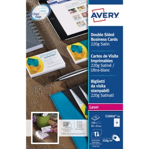 Avery C32016 business cards laser 85x54mm 220g - satin - box of 250