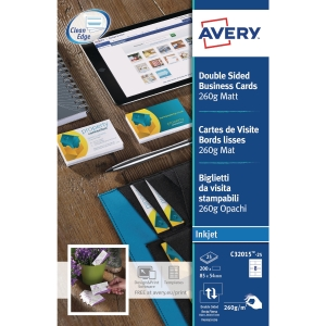 Avery C32015 business cards inkjet 85x54mm 260g - matt - box of 200