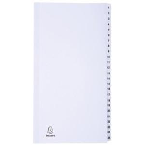 Lyreco Budget neutrale tabbladen, A4, karton 160 g, 11-gaats, per 5 tabs
