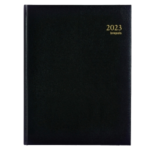 Brepols Timing 137 desk diary with Lima cover black