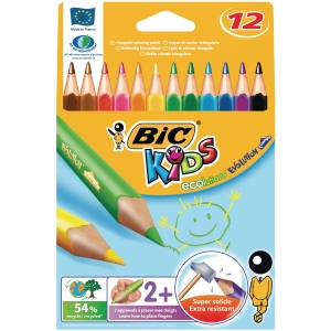 Bic Kids Evolution Triangle kleurpotloden assorti - doos van 12