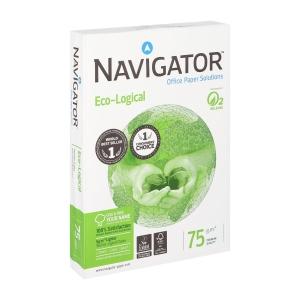 Navigator Ecological ecologisch papier A4 75g - 1 doos = 5 pakken van 500 vellen