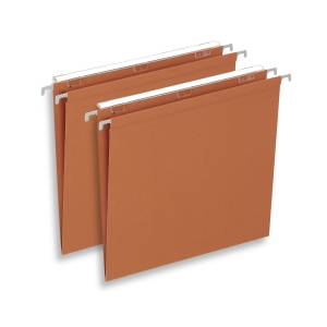 Lyreco Budget suspension files drawers V 390/250 orange 230 g/m² - box of 25