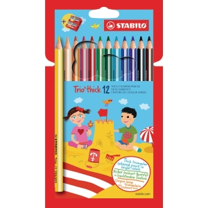 Stabilo Trio crayons assorted colours - pack of 12