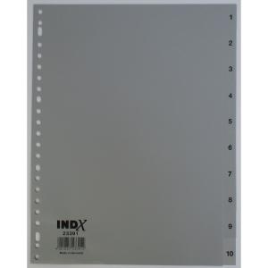 IndX numerieke tabbladen 10 tabs PP 23-gaats