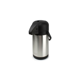 Double walled stainless steel thermos with pump 2.2L