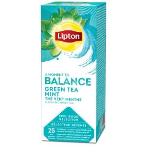 Lipton theezakjes Groene thee met munt - doos van 25