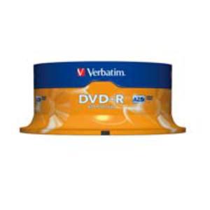 Verbatim DVD-R 4.7GB 1-16x snelheid spindle - pak van 25