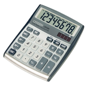 Citizen CDC80 desk calculator compact silvergray - 8 numbers