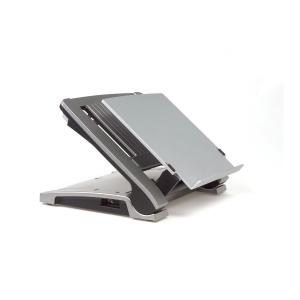 Bakker Elkhuizen Ergo Top 320 laptopsteun in acryl transparant mat