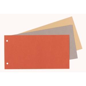 Lyreco Premium rechthoekige scheidingsstroken, karton 250 g, geel, 250 stuks