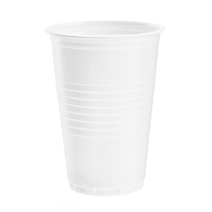 Disposable cups for warm/cold drinks 20cl white - box of 3000