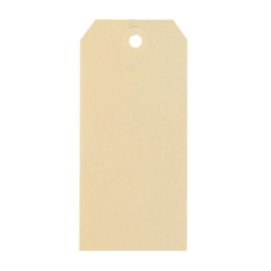 Strung tags with hole for shipment 70x140mm chamois - box of 1000
