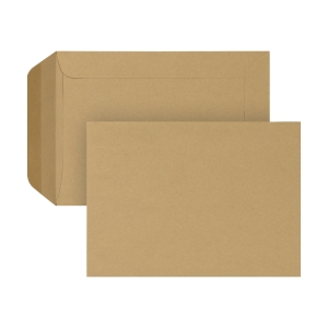 Bags 185x280mm gummed 90g brown - box of 250
