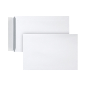 Bags 230x310mm peel and seal 100g white - box of 250