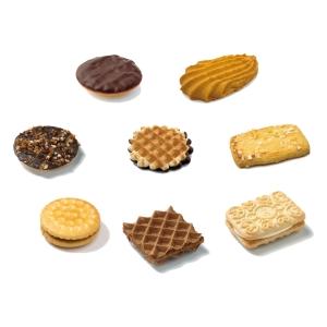 Delacre Elite koekjes gevarieerd assortiment - snoepgoed - doos van 360