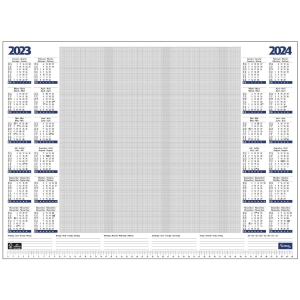 Lyreco desk placemat year overview 57x41cm