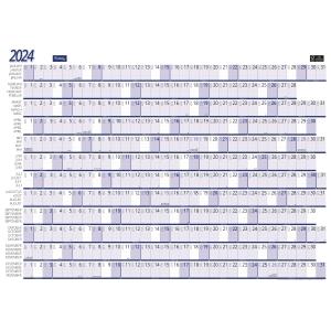Lyreco jaarplankalender 82x59cm