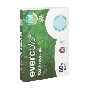 Evercolor recycled coloured paper A4 80g blue - pack of 500 sheets