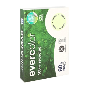Evercolor recycled coloured paper A4 80g green - pack of 500 sheets