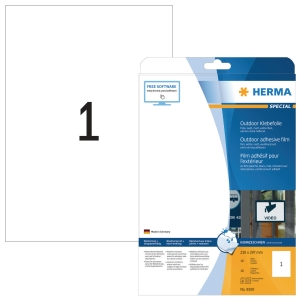 Herma 9500 weatherproof labels 210 x 297mm white - box of 10