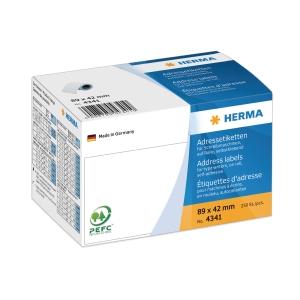 HERMA 4341 adresetiketten typemachine 89x42 mm - rol van 250