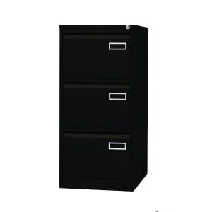 Bisley Basic filing cabinet for suspension files 3 drawers H102cm black