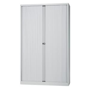 Cupboard high with 4 shelves 120 x 198 x 43 cm light grey