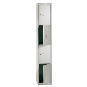 Bisley locker with 4 compartments 30,5x180,2x45,7 cm grey