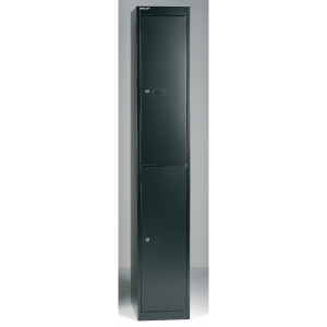 Bisley locker with 2 compartments 30,5x180,2x45,7 cm black