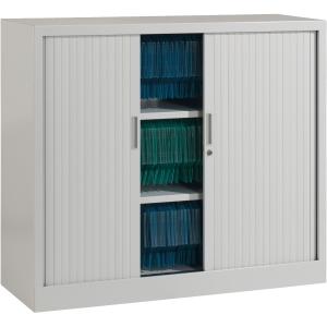 Ariv cupboard 2 shelves 120x105x43 cm aluminium