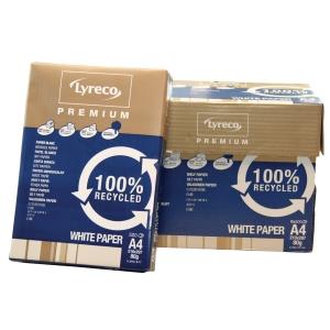 Lyreco Premium Recycled papier A4 80gr - doos van 5 pakken van 500 vellen