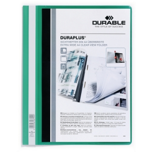 Durable Duraplus 2579 personalised project file A4 PVC green