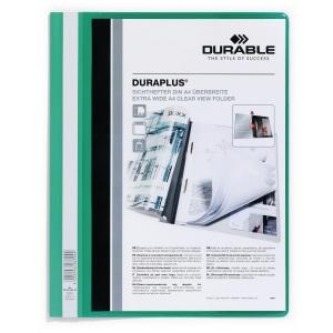 Durable Duraplus 2579 snelhechtmap A4 PVC personaliseerbaar groen