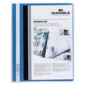 Durable Duraplus 2579 snelhechtmap A4 PVC personaliseerbaar blauw