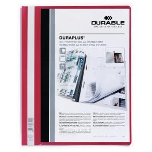 Durable Duraplus 2579 snelhechtmap A4 PVC personaliseerbaar rood