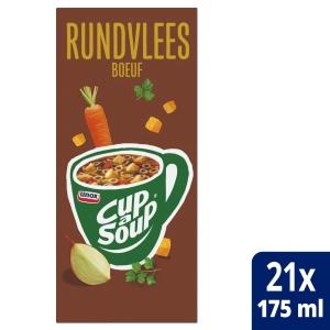 Cup-a-soup zakjes soep rundsvlees - doos van 21