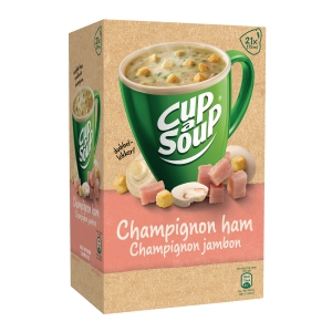 Cup-a-soup zakjes soep champignon/ham - doos van 21